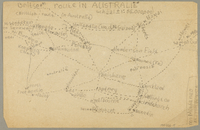 1991.226.15 back Map created by a Dutch Jewish boy while living in hiding  Click to enlarge