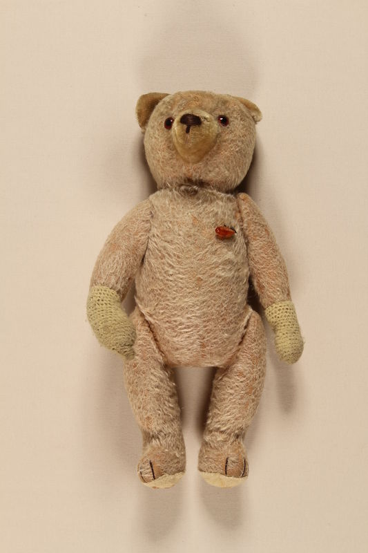 2001.204.3 front Teddy bear used in an SS Lebensborn home