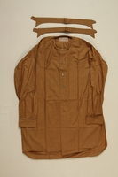 2001.204.5_a-c front SA (Sturmabteilungen/ Storm Division) brown uniform shirt with 2 detachable collars  Click to enlarge