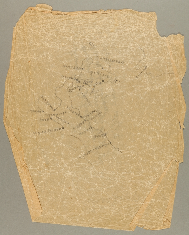 1991.226.17 front Map created by a Dutch Jewish boy while living in hiding