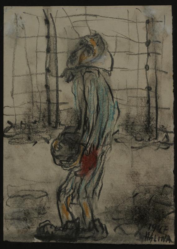 2001.122.295.5 front Halina Olomucki drawing
