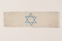 White armband with a blue embroidered Star of David worn in the Drzewica ghetto