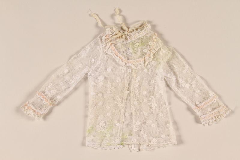 2002.57.11_a front Lace button jacket worn during bris in prewar Vienna