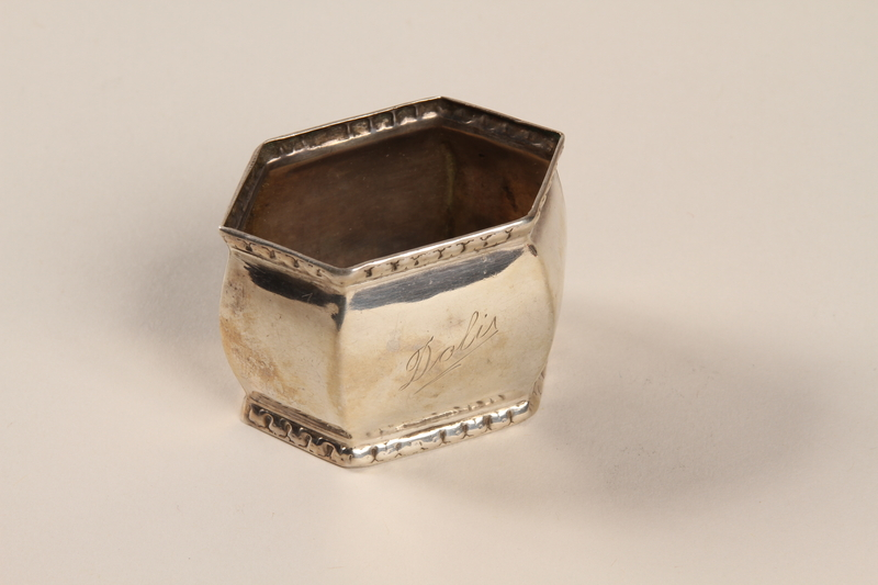 2001.273.5 front Silver napkin ring