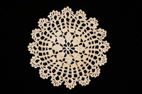 2002.240.1 front Doily crocheted by a women killed in a concentration camp  Click to enlarge