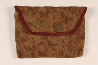 2002.140.6 front Floral silk brocade tallit pouch saved with a hidden Dutch Jewish infant  Click to enlarge