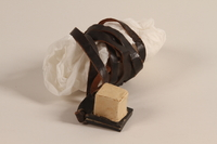 2002.140.9 a front Pair of tefillin with batim covers saved with a hidden Dutch Jewish infant  Click to enlarge