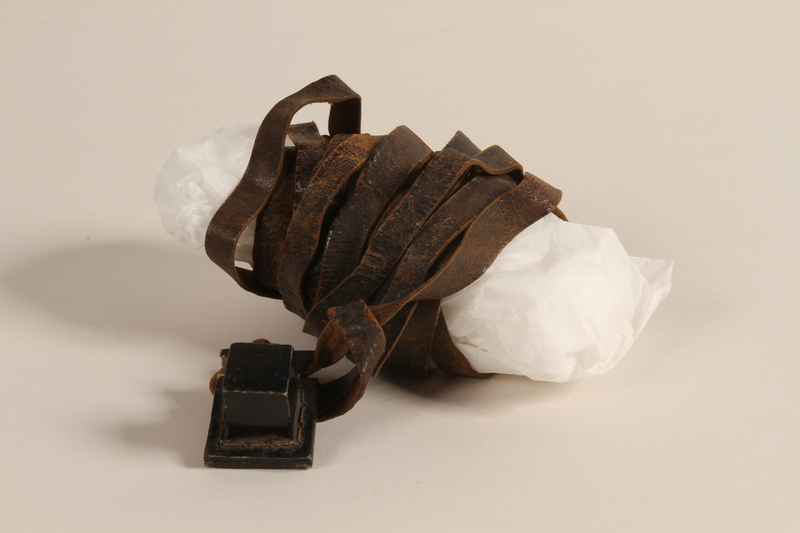 2002.140.10 a front Pair of tefillin saved with a hidden Dutch Jewish infant