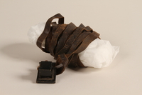 2002.140.10 a front Pair of tefillin saved with a hidden Dutch Jewish infant  Click to enlarge
