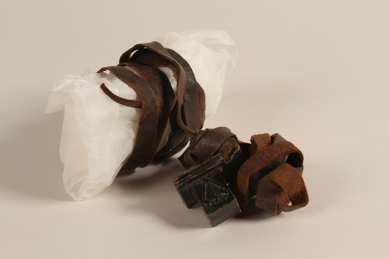 2002.140.10 b front Pair of tefillin saved with a hidden Dutch Jewish infant