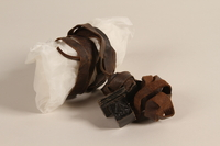 2002.140.10 b front Pair of tefillin saved with a hidden Dutch Jewish infant  Click to enlarge
