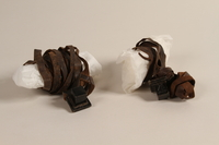 2002.140.10 a-b front Pair of tefillin saved with a hidden Dutch Jewish infant  Click to enlarge