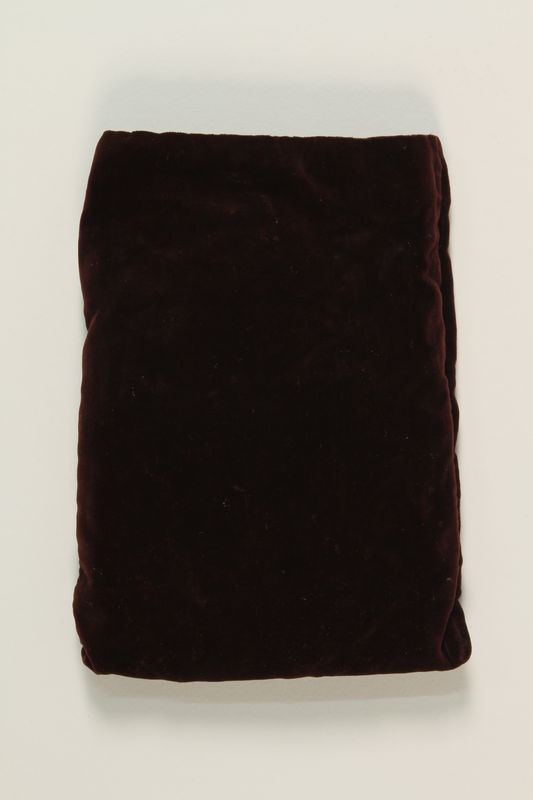 2002.140.11 front Burgundy velvet tefillin pouch saved with a hidden Dutch Jewish infant