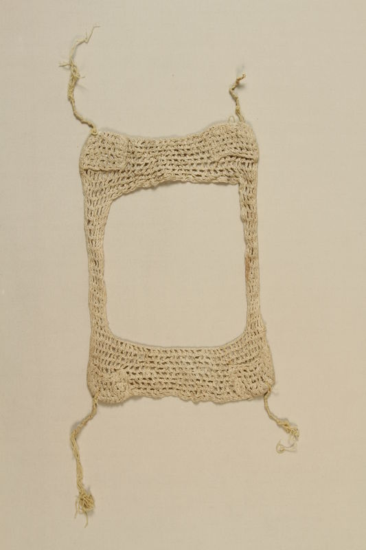 2002.140.14 front Crocheted tallit katan saved with a hidden Dutch Jewish infant