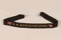 2002.173.3 front SS Bergensfjord sailor's ribbon  Click to enlarge