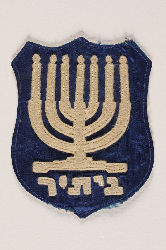 2002.217.2 front Zionist youth movement badge