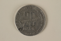 2002.221.2 front Łódź (Litzmannstadt) ghetto scrip, 20 mark coin  Click to enlarge