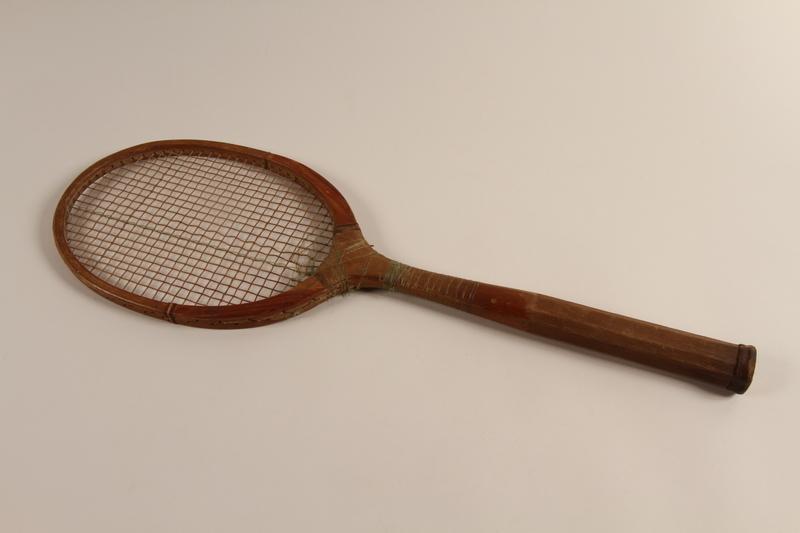 2002.241.2 front Handmade tennis racket