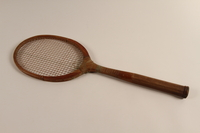 2002.241.2 front Handmade tennis racket  Click to enlarge
