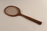 2002.241.2 back Handmade tennis racket  Click to enlarge