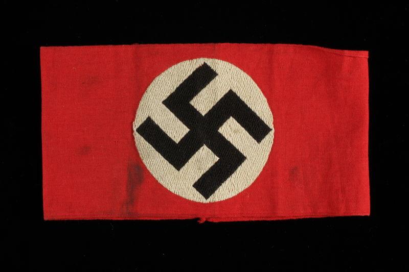 2002.242.2 front Nazi swastika armband