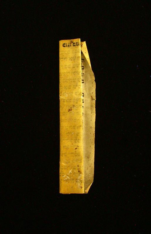 Klaf, a scrolll for a mezuzah
