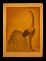 Pastel of a kneeling ballerina  Click to enlarge
