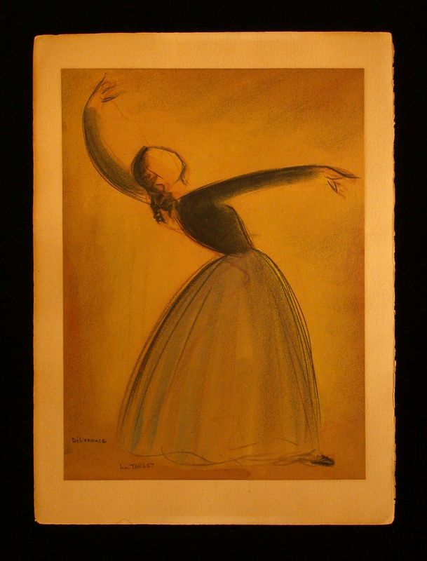 Pastel portait of a female dancer