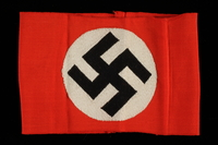 2000.495.1 front Nazi Party armband with swastika  Click to enlarge