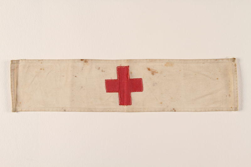 2002.312.3 front Red Cross armband