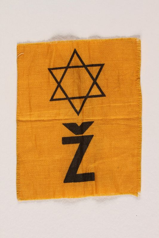 2002.321.2 front Star of David badge with a Ž worn in Croatia