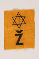 2002.321.2 front Star of David badge with a Ž worn in Croatia  Click to enlarge