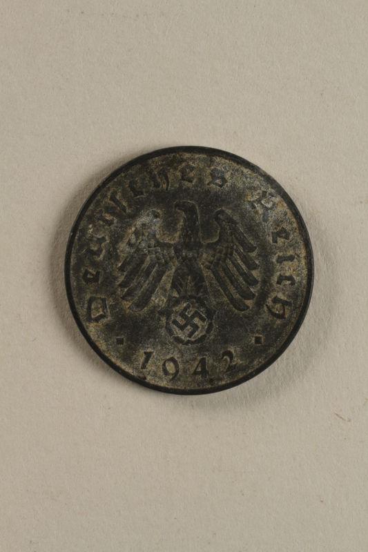 2003.33.1 front Nazi Germany, 10 reichspfennig coin