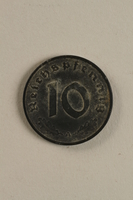 2003.33.1 back Nazi Germany, 10 reichspfennig coin  Click to enlarge
