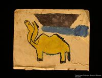 Sketchbook with 7 pages of drawings created in hiding by a young Jewish boy 2  Click to enlarge