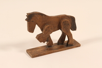 2002.433.1 a front Wooden horse and wagon pull toy  Click to enlarge