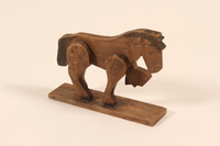 2002.433.1 a back Wooden horse and wagon pull toy  Click to enlarge
