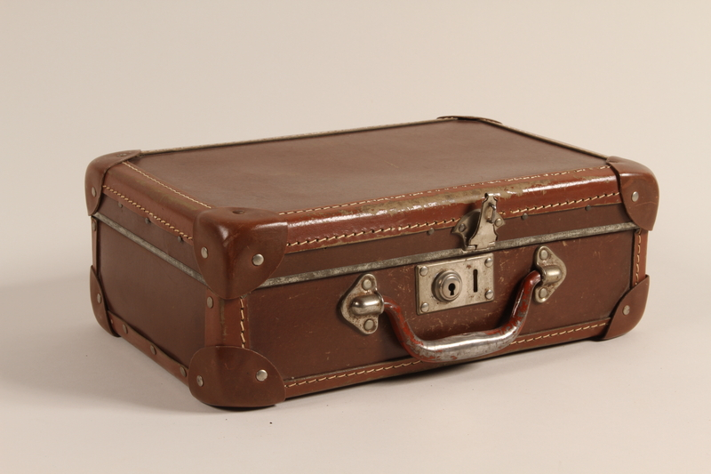 1999.282.2 front Small suitcase used by a Hungarian Jewish family while living in hiding