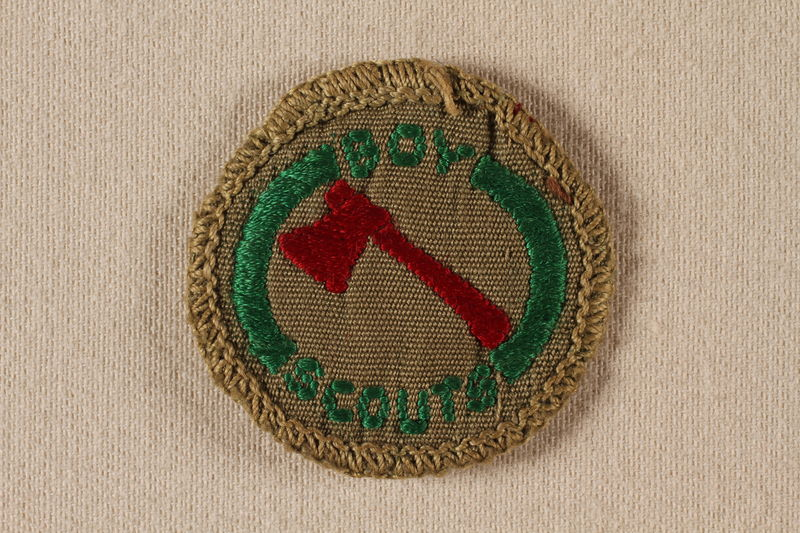 2000.508.1 front Boy Scout badge