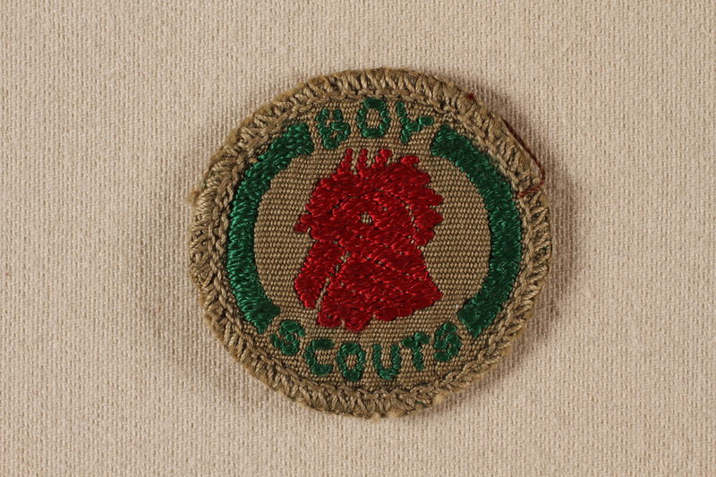 2000.508.2 front Boy Scout badge