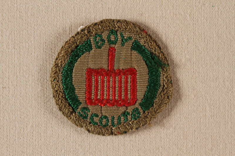 2000.508.7 front Boy Scout badge