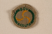 2000.508.9 front Boy Scout badge  Click to enlarge