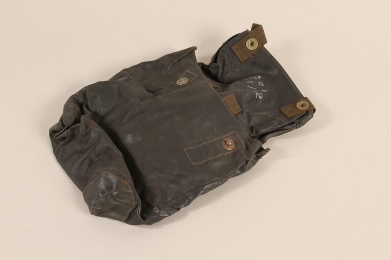 2000.526.4 open Wehrmacht waterproof gas cape pouch found by US soldier