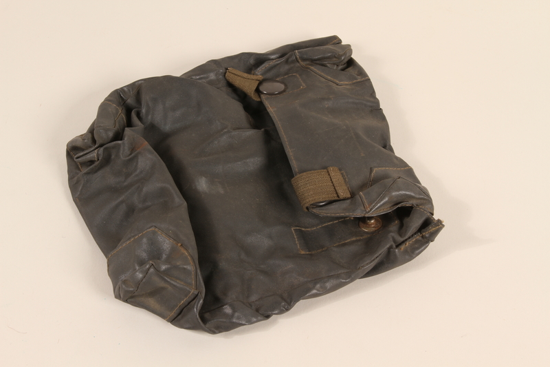 2000.526.4 closed Wehrmacht waterproof gas cape pouch found by US soldier