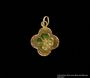 Gold 4-leaf clover charm buried and recovered postwar by a Hungarian Jewish girl