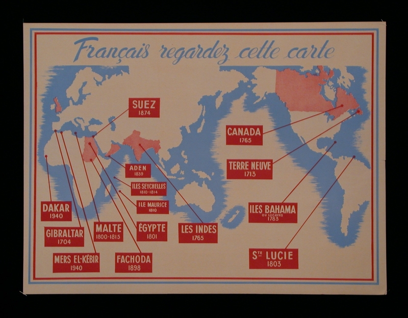 2003.189.8 front Propaganda poster warning of the British threat to French territory
