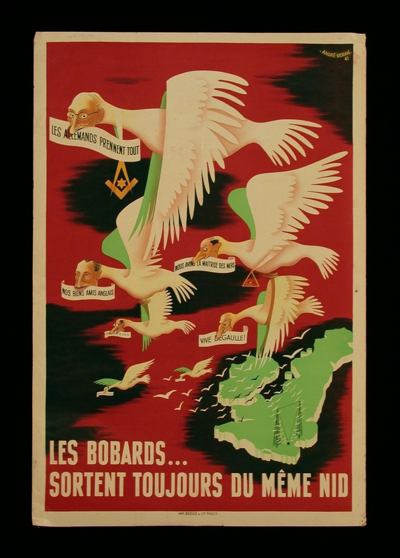 2003.189.10 front Vichy produced poster denouncing Free French propaganda