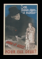 2003.189.11 front Anti-British propaganda poster featuring Winston Churchill looming above a mother and child  Click to enlarge