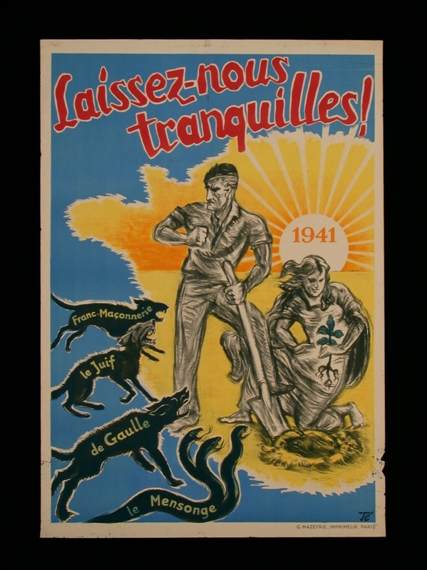 2003.189.13 front Pro-German propaganda poster warning of threats against France