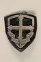 Eclaireuses et Eclaireurs Unionistes de France badge with fleur de lis cross